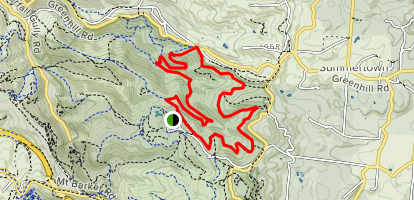 Bartrill Spur Track and Wine Shanty Trail Map