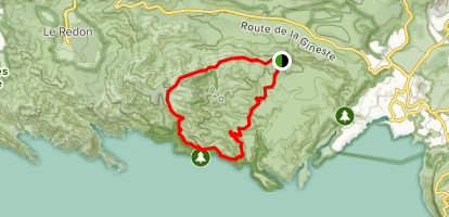Les Falaises de Devenson Circuit Map