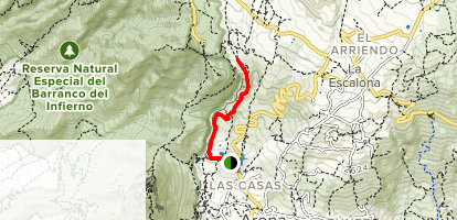 Arona to El Refugio via GR-131 Map