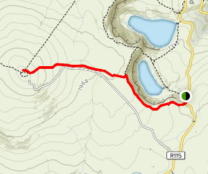 Kippure via Lough Bray Lower Map