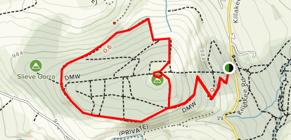 Montpelier Hill and Hell Fire Club via DMW Map