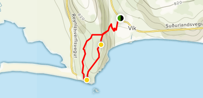 Reynisfjall Mountain from Vik Map