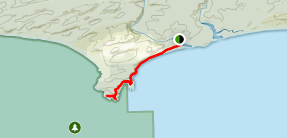 Thurra River Dunes to Point Hicks Lighthouse and Saros Track Map