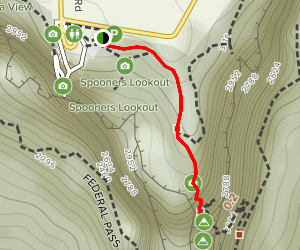 Three Sisters Track to Lady Game Lookout Map