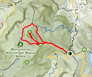 Roque Nublo Loop Map