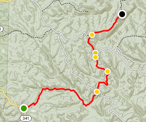 Ozark Highlands Trail: Moccasin Springs to Cripple Turkey Road Map