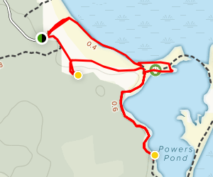 Taylor's Head Bay and Powers Pond Map