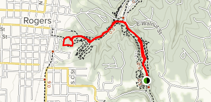 Pleasant Ridge to Frisco Springs Trail  Map
