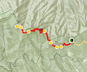 The Great Channels via Brumley Mountain Trail Map