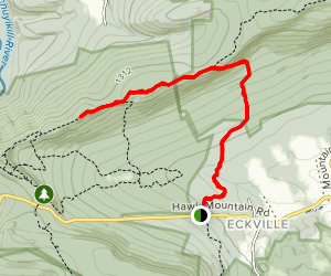 Hawk Mountain via Skyline and Appalachian Trail Map