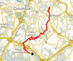 Patuxent Branch Trail to Lake Elkhorn and James Pond Map
