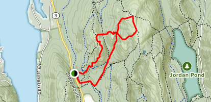 Parkman to Sargent to Maple Springs via Carriage Road Map