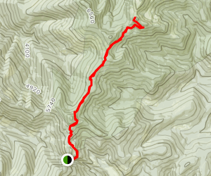 Shedroof Divide Trail #512 from Pass Creek to Helmer Mountain Map