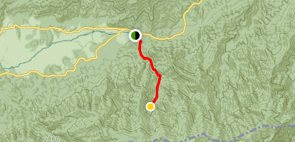 Cades Cove to Ledbetter Ridge Map