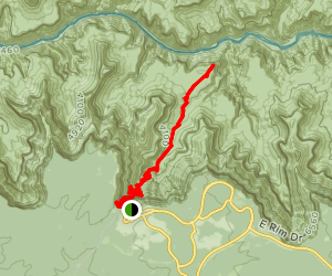Bright Angel Trail to Plateau Point Trail Map