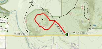 West Cinder Knoll Trail Map