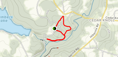 Forge Trail via Forest Hill Trail Loop Map