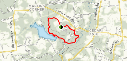 Forest Hill, Forge, Lake, and Cedar Hollow Trails Loop Map