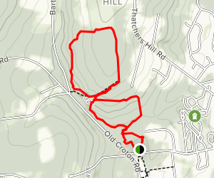 Brook, Main, Meditation, Uplands and Eagle Trail Loop  Map