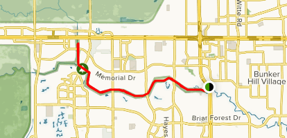 The Quail Trail from Sam Houston Tollway Map
