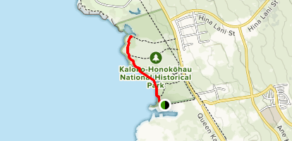 Ala Kahakai Nationa Historical Trail  Map