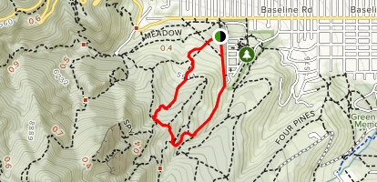 Chautauqua and Bluebell Trail Loop  Map