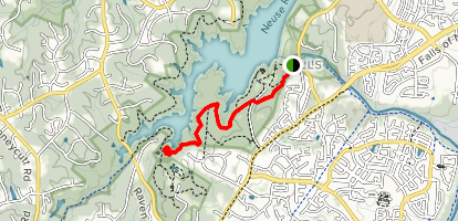 Falls Dam to Ann Louise Nature Preserve Entrance Map