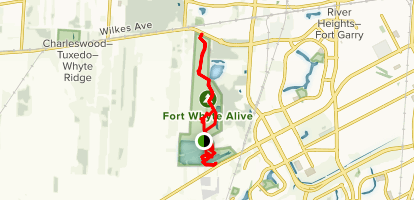 Lake Devonian and Fort Whyte Loop Map