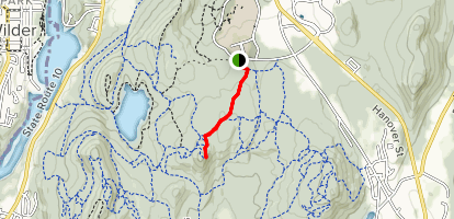 Burnt Mountain via Westline Trail Map