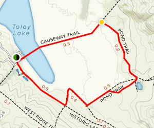Causeway, Pond, and Historic Lakeville Road Trails Loop Map