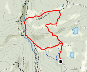 View Loop to Purgatory Brook Trail Map