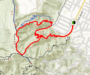 Puma Trail to Native Oak Trail via Ahwingha Trail Map