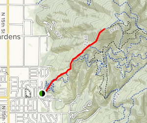 West Canfield Butte via Trail 1 Map