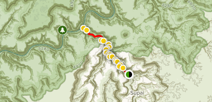 The Confluence from Havasupai Campground Map