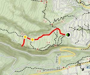 Cave Of The Winds via Quemazon Trail Map