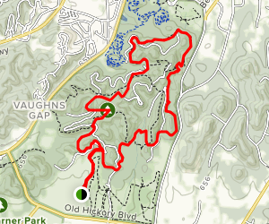 Mossy Ridge and Percy Warner Horse Trail Loop  Map