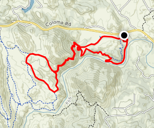 Greenwood, Gerle, East Ridge and Down and Up Map