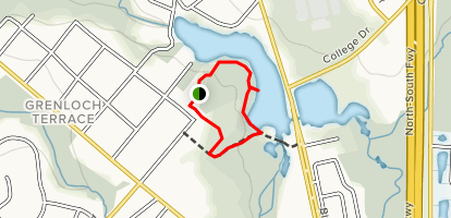 Grenloch Lake Trail Map