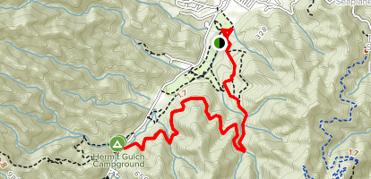 Trans-Catalina Trail to Hermit Gulch Map