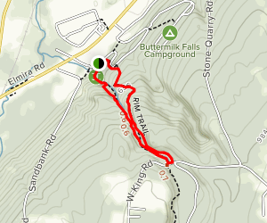 Buttermilk Falls: Gorge and Rim Trail Loop Map