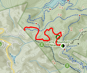 Sulphur Springs Trail to Fire Tower Spur Trail Map