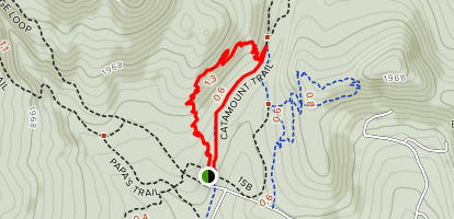 Callagy's Trail to Catamount Trail Loop Map