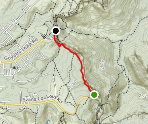 Barrow Lookout and Govetts Leap via Cliff Top Track Map