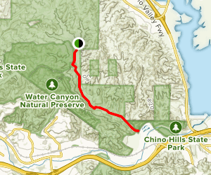 Lower Aliso Canyon Trail Map