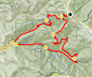 Whittemore Gulch and Purisima Creek Loop Trail Map