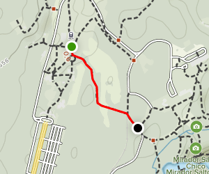 Green Trail: Central Station to Falls Station Map