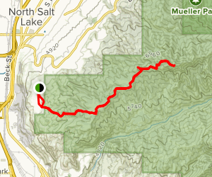 Dude Benchmark Peak Trail Map