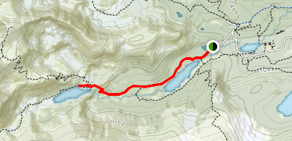 Lake Isabelle Trail (Summer) Map