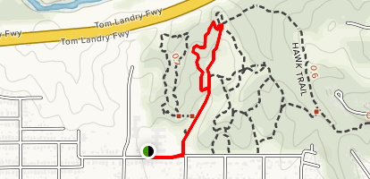 Hawk Trail to Sunset Trail Loop Map