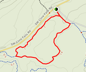 Oregon Sunshine Trail and Pumice Foot Trail Loop Map